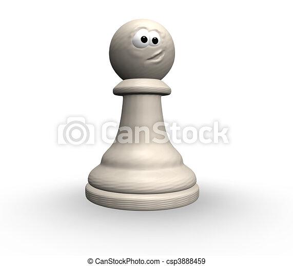 Stock de Ilustraciones de divertido, ajedrez, peón - blanco ...