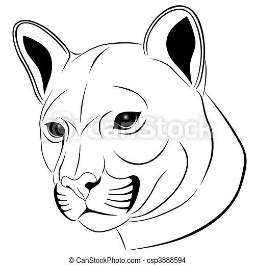 tatuagem, puma - csp3888594