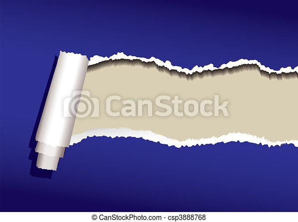 blue paper curl - csp3888768