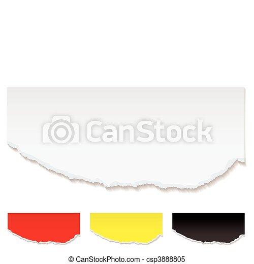 White paper torn edge - csp3888805