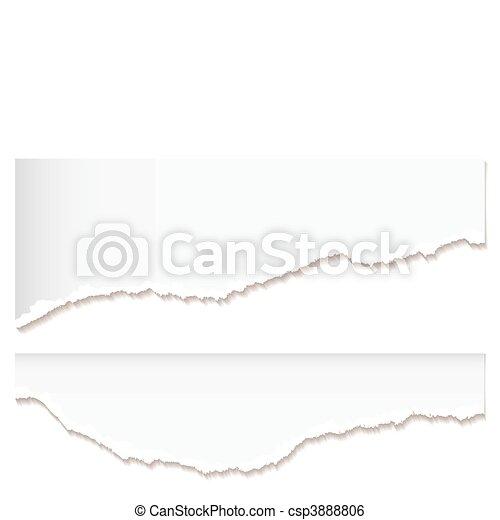 White paper rip edge - csp3888806