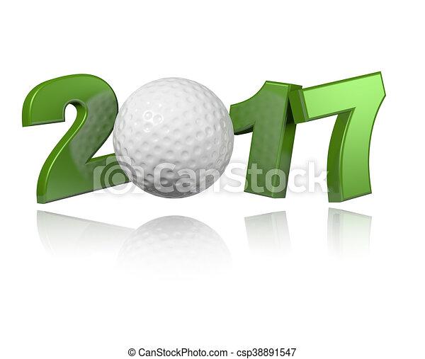 Golf 2017 design - csp38891547
