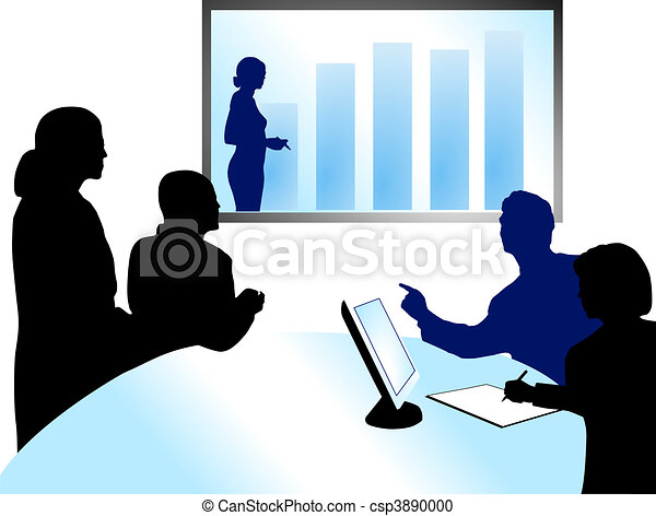 stock illustration of video conference csp3890000 search