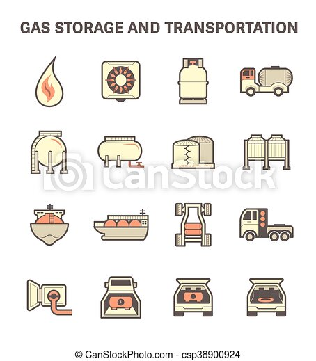 Gas transportation icon - csp38900924