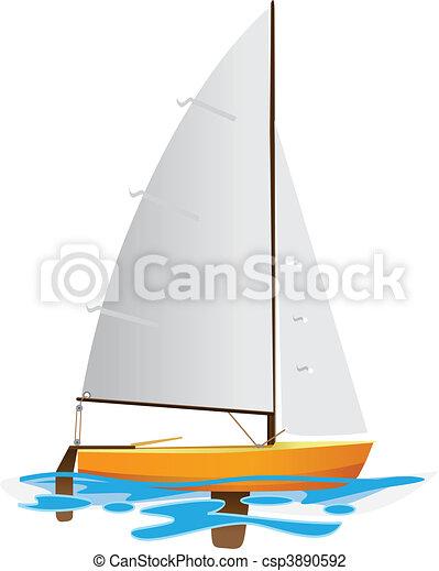 Sailing boat - csp3890592