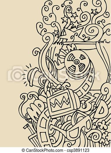 Entertainment Background - csp3891123