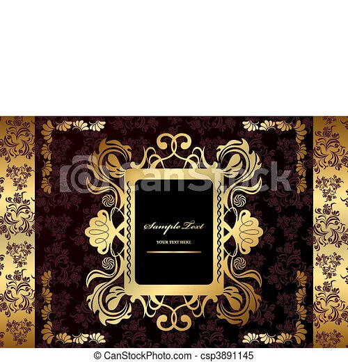 Abstract gold luxury frame - csp3891145