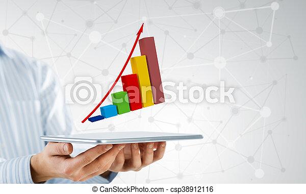 dinamica, vendite, mercato - csp38912116
