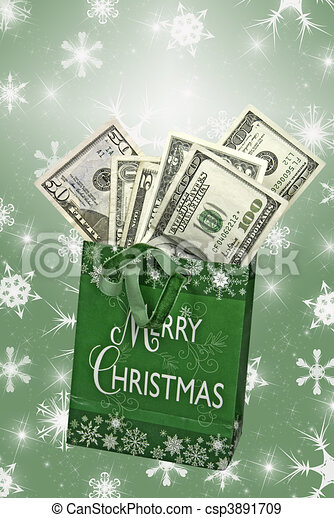 Christmas Cash - csp3891709