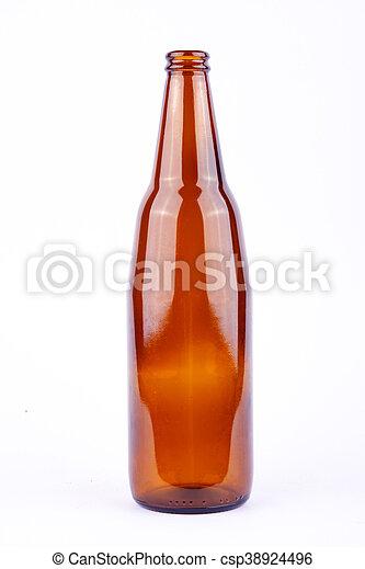 brown beer bottle for beer beverage - csp38924496