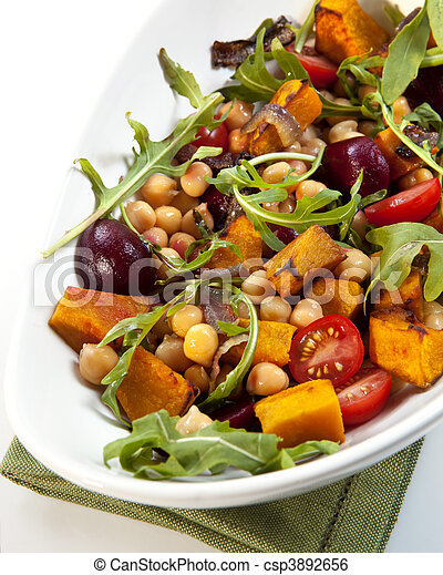 Chick Pea and Vegetable Salad - csp3892656