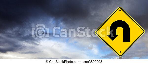 Stormy Weather Ahead - U Turn - csp3892998