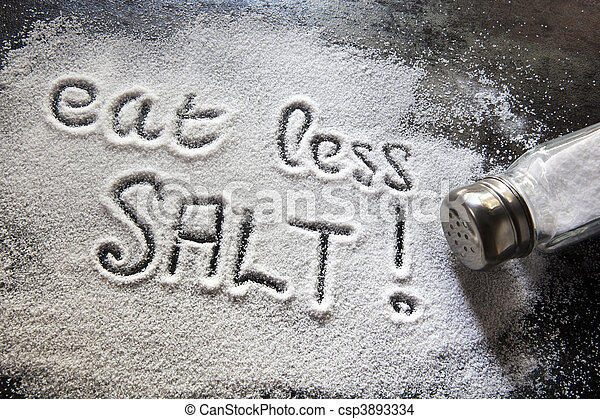 Eat Less Salt - csp3893334