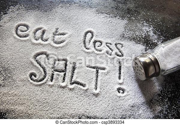Eat Less Salt - csp3893334