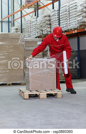 working in warehouse - csp3893393