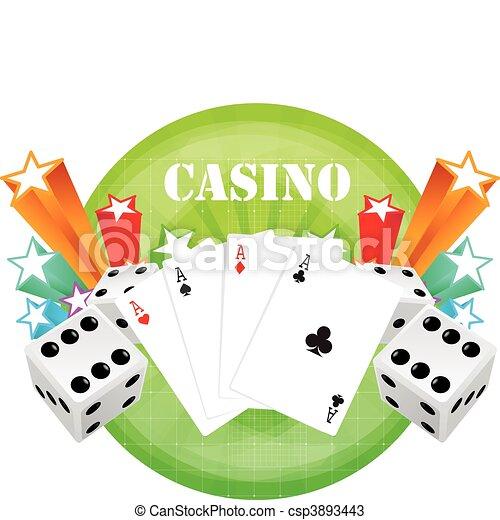 gambling illustration - csp3893443