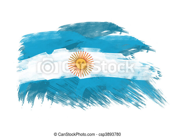 argentina flag in brush strokes - csp3893780