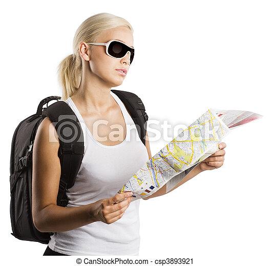 blond tourist  - csp3893921