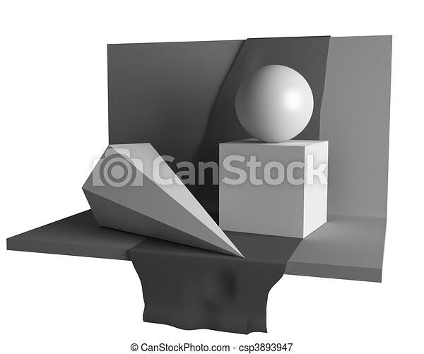 geometry still life image - csp3893947