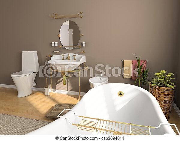 bathroom interior - csp3894011