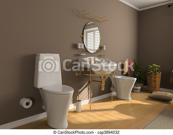 Clip art von badezimmer inneneinrichtung modern for Badezimmer clipart