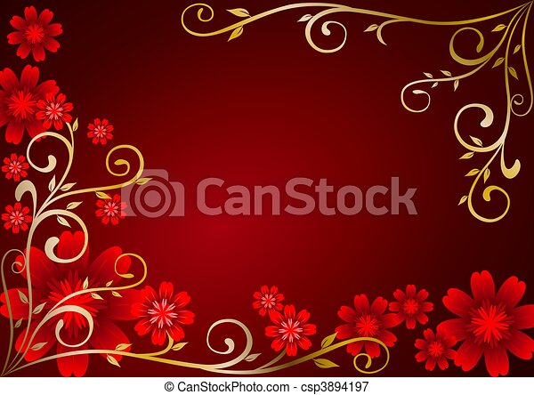 Maroon Flowers Wallpaper Maroon Flowers Ornament