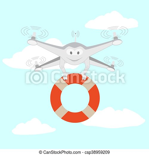 Drone. Rescue on the water - csp38959209