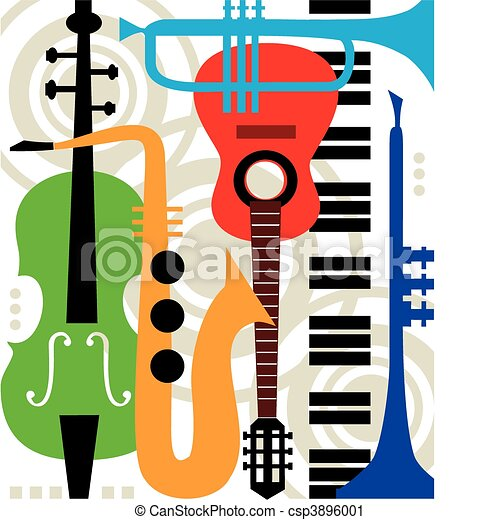 Abstract vector music instruments - csp3896001