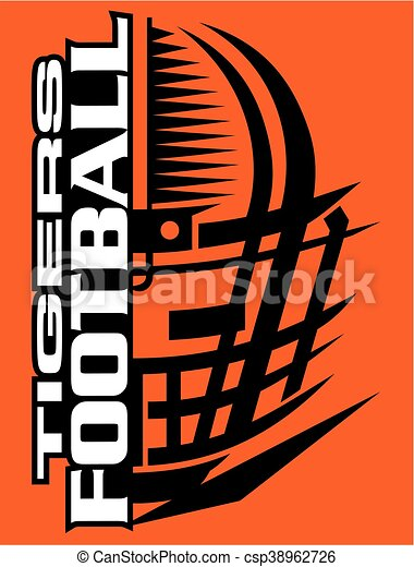 Vector Illustration Of Tigers Football Team Design With