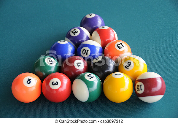 Cool Pool Tables Balls Stock Photo Of Pool Table Balls Stacked Pool