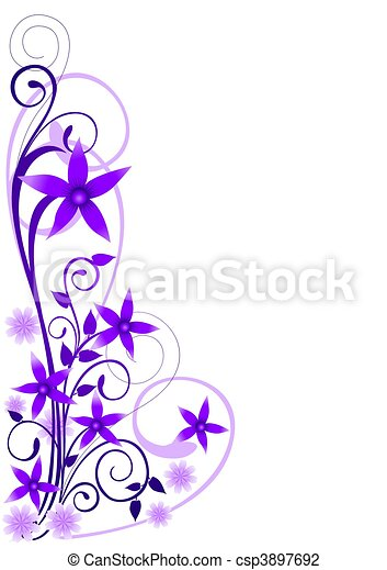 Violet Flowers Ornament - csp3897692
