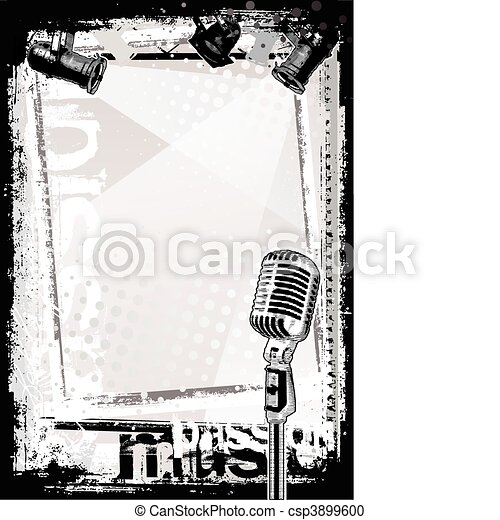 microphone background - csp3899600