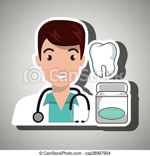 Vector Clipart of doctor tooth stethoscope mouthwash vector ...