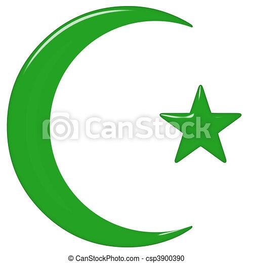 3D Islamic Symbol - csp3900390