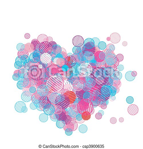 Abstract heart shape for your design - csp3900635
