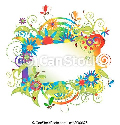 Summer dreams, greeting card - csp3900676