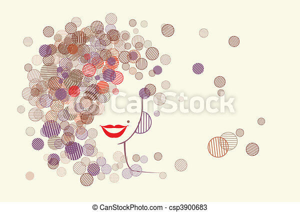 Woman face silhouette - csp3900683