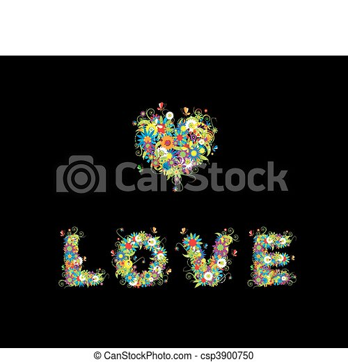 Floral design. See also letters in my gallery - csp3900750