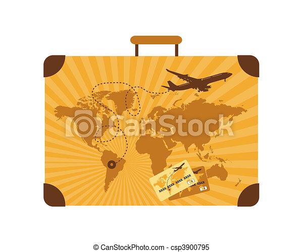 Summer travel, suitcase - csp3900795