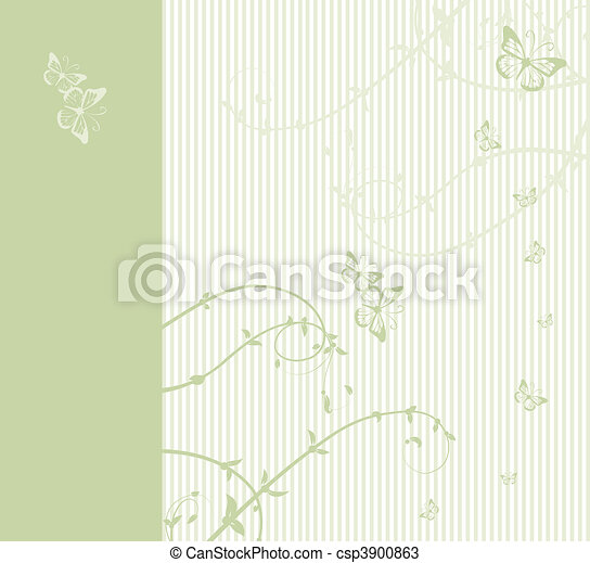 Pattern of wedding card - csp3900863