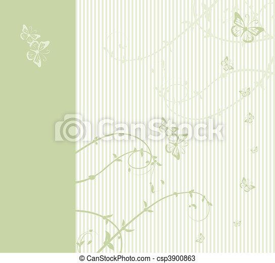Pattern of wedding card - csp3900863