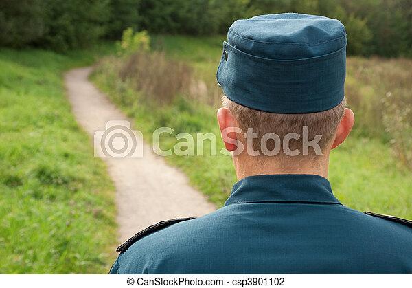militär,  man - csp3901102