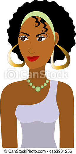 Afro Girl Avatar - csp3901256