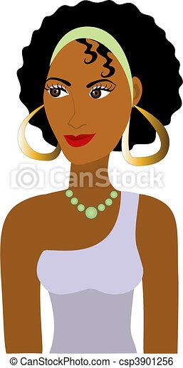 Afro Girl Avatar - csp3901256