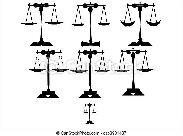 scales of justice set - csp3901437