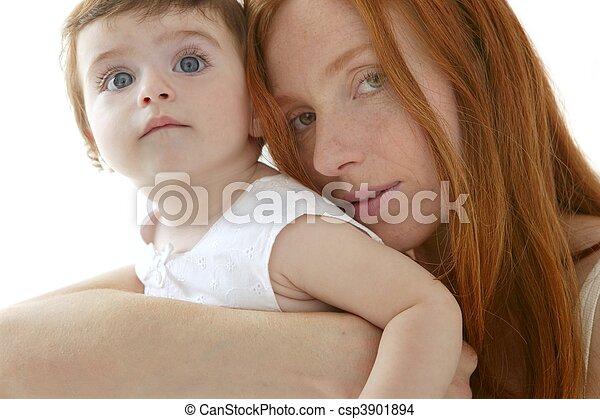 Stock de fotos de bebé, pelirrojo, madre, Abrazo, blanco - bebé ...