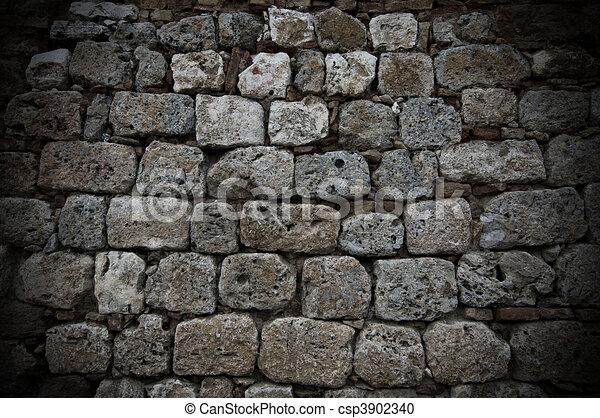 Stenen binnenmuur oud maken