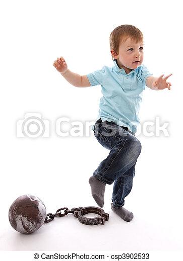Little Boy Escaping - csp3902533