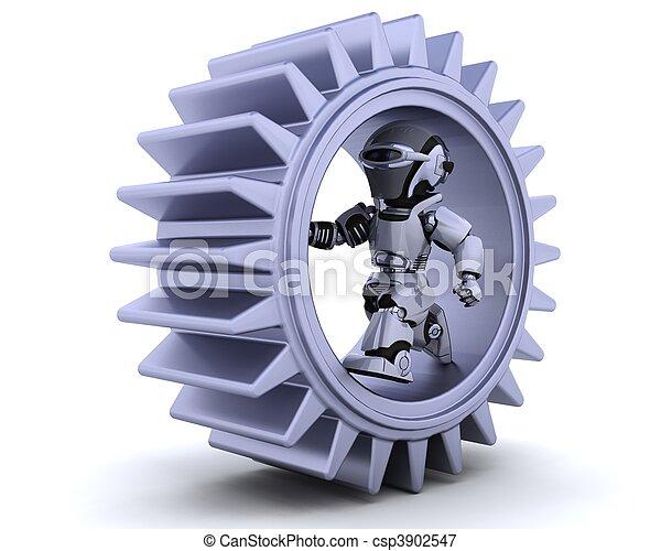 robot with gear mechanism - csp3902547