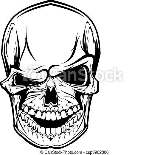 Danger skull - csp3902806